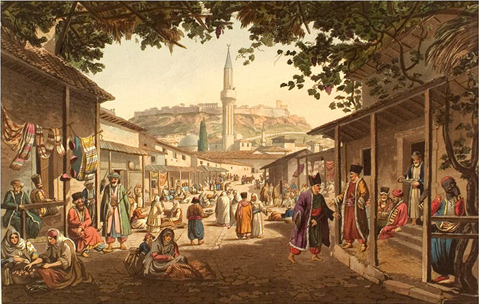 Dodwell-Edward---The-Bazaar-at-Athens